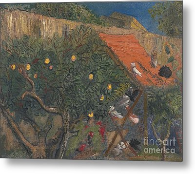 In The Garden Metal Print by Celestial Images
