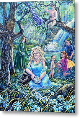 In The Garden Of The Goddess Metal Print by Gail Butler