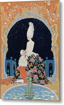 In The Grotto Metal Print by Georges Barbier