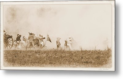 Metal Print featuring the photograph In The Heat Of Battle by Judi Quelland