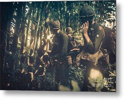 In The Jungle - Vietnam Metal Print by Edward Fielding