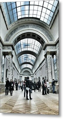 In The Louvre  Metal Print by Marianna Mills