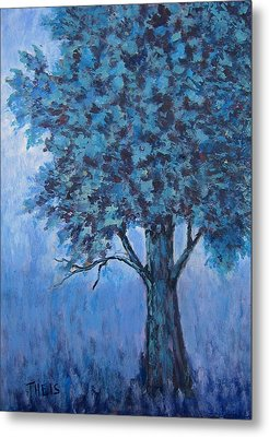 Metal Print featuring the painting In The Mist by Suzanne Theis