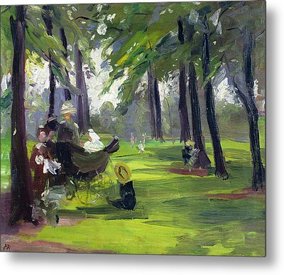 In The Park  Metal Print by Mary C Greene