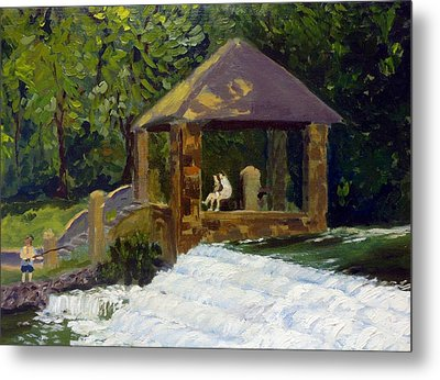 In The Park Metal Print by Rick Carbonell
