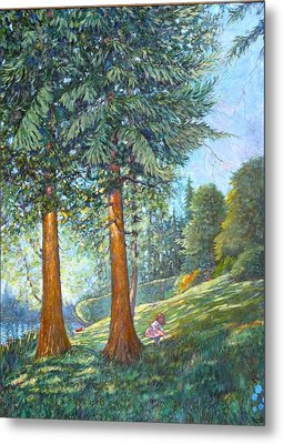 Metal Print featuring the painting In The Shade by Charles Munn
