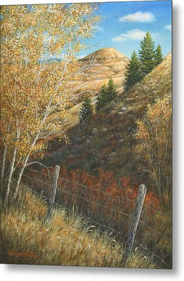 Metal Print featuring the painting In The Shadow Of Belt Butte by Kim Lockman