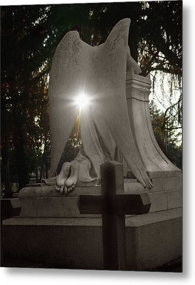 In The Shadow Of His Light Metal Print by Peter Piatt