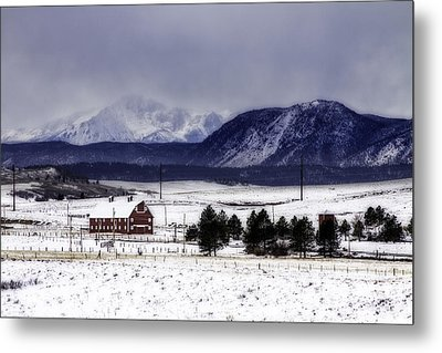 Metal Print featuring the photograph In The Shadow Of Pike's Peak by Kristal Kraft