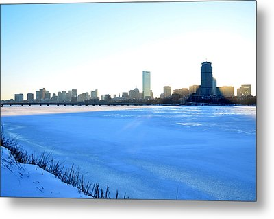 In The Shadow Of The Pru Metal Print by Toby McGuire