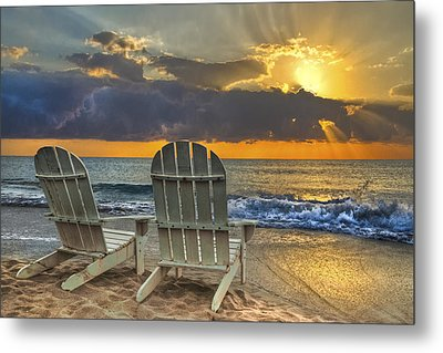 In The Spotlight Metal Print by Debra and Dave Vanderlaan