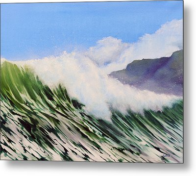 In The Surf Metal Print