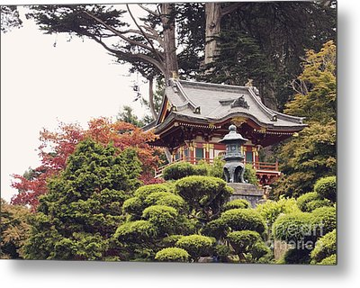 In The Tea Garden Metal Print