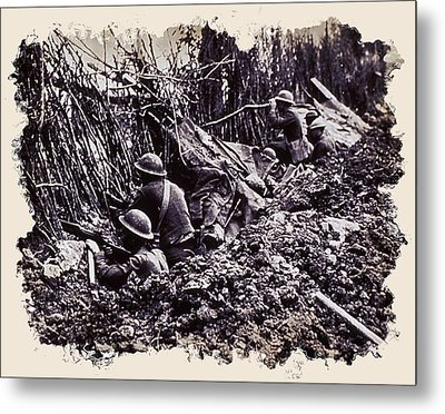 In The Trenches Metal Print by Daniel Hagerman