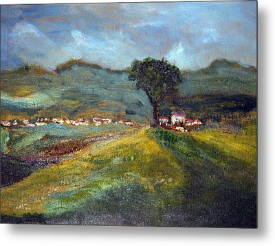 Metal Print featuring the painting In The Tuscan Hills by Michael Helfen