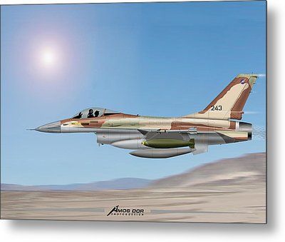 Metal Print featuring the drawing On The Way To Bagdad. by Amos Dor
