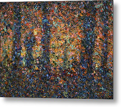 In The Woods Metal Print by James W Johnson