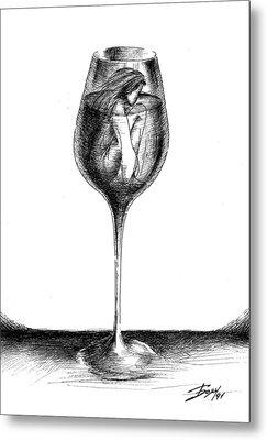In Vino Veritas Metal Print by Boyan Donev