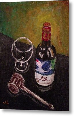 In Vino Veritas Metal Print by Victoria Lakes