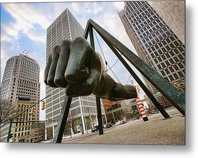In Your Face -  Joe Louis Fist Statue - Detroit Michigan Metal Print