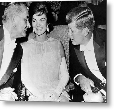 Inaugural Ball Conversation Metal Print by Underwood Archives