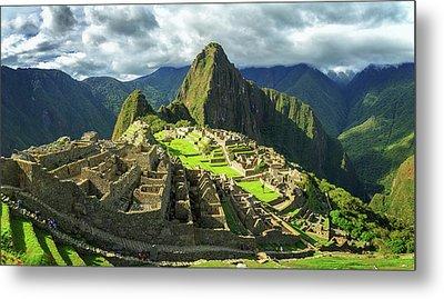 Inca City Of Machu Picchu, Urubamba Metal Print by Panoramic Images