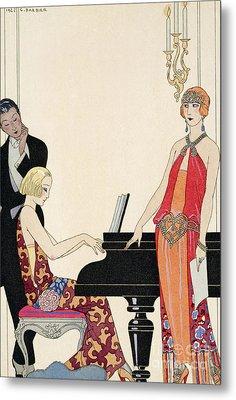 Incantation Metal Print by Georges Barbier
