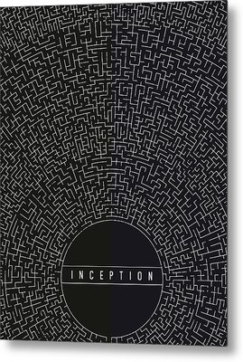 Inception Movie Poster Metal Print by Mike Taylor