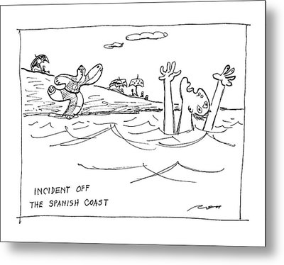 Incident Off The Spanish Coast Metal Print by Al Ross