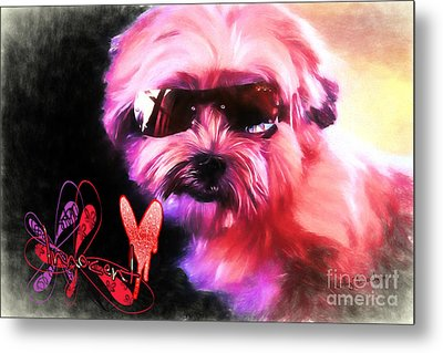 Metal Print featuring the digital art Incognito Innocence by Kathy Tarochione