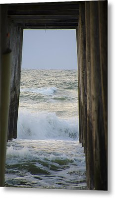 Incoming Tide At 32nd Street Pier Avalon New Jersey Metal Print by Bill Cannon