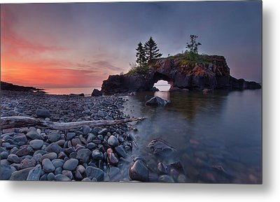 Hollow Rocks, North Shore Mn Metal Print