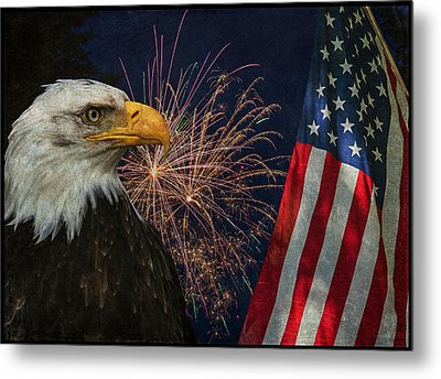 Independence Day Metal Print by Angie Vogel