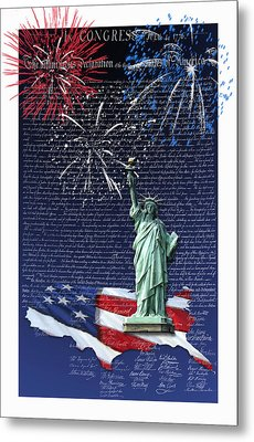 Independence Day Metal Print by Kathleen Holley
