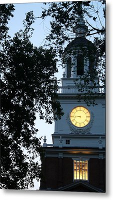 Independence Hall At Dusk Metal Print by Christopher Woods