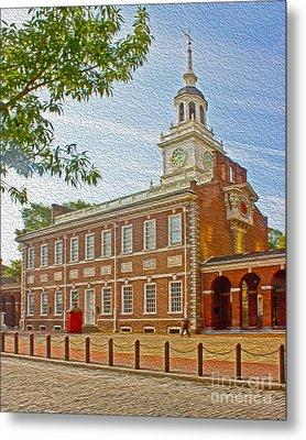 Independence Hall Philadelphia  Metal Print by Tom Gari Gallery-Three-Photography