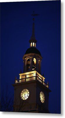 Independence Hall Tower Philadelphia Pa Metal Print by Panoramic Images