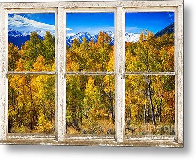 Independence Pass Autumn Colors Window View Metal Print
