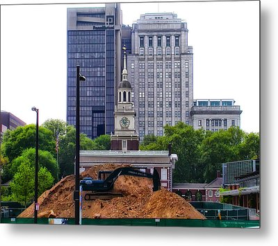 Independence Square - Under Construction Metal Print by Bill Cannon