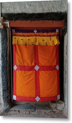 India, Jammu & Kashmir, Ladakh, Doorway Metal Print by Ellen Clark