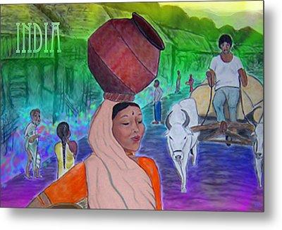 India Metal Print by Karen R Scoville