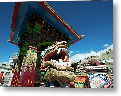 India, Ladakh, Leh, Small Colorful Metal Print by Anthony Asael