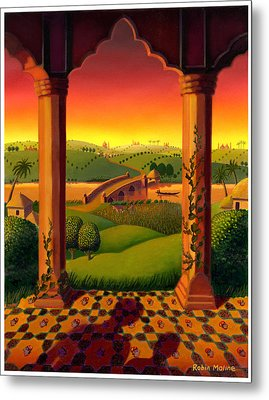 India Landscape Metal Print by Robin Moline