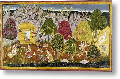 India Ramayana, C1650 Metal Print