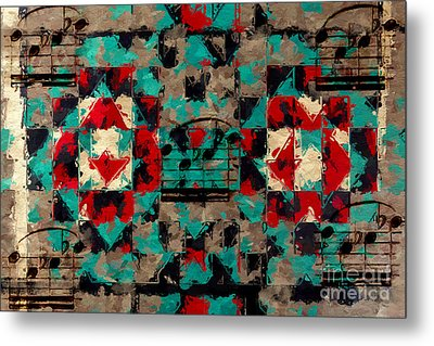 Metal Print featuring the digital art Indian Blanket Quintet by Lon Chaffin