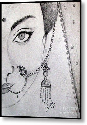 Indian Bride Metal Print by Prajakta P