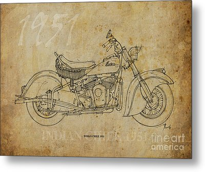 Indian Chief 1951 Metal Print by Pablo Franchi