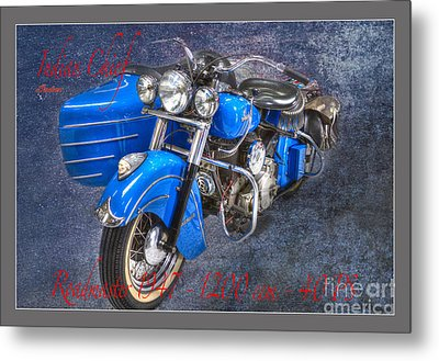Indian Chief Motorcycle Legend Metal Print