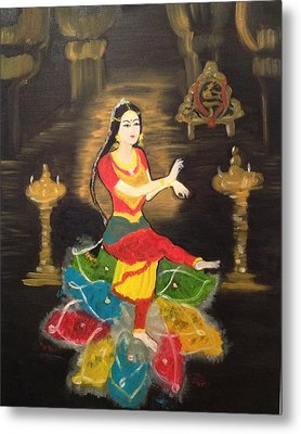Indian Classical Dancer Metal Print by Brindha Naveen