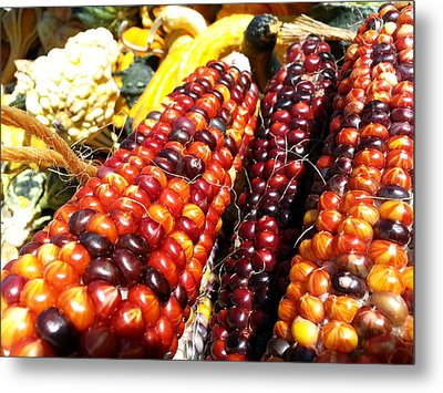 Metal Print featuring the photograph Indian Corn by Caryl J Bohn